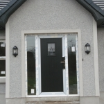 Clonmacash Rd Portadown Black T&G pvc door with GL1 glass.