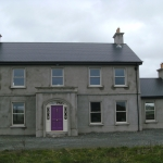 Drumanphy Rd Portadown Cream sliding sash windows and timber front door.
