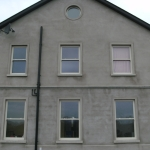 Drumanphy Rd Portadown Cream sliding sash windows and bullseye window.