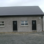 Drumanphy Rd Portadown Cream casement windows and black pvc doors with k1P Amsterdam panels.
